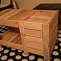 Table basse fabriquée par Baptiste