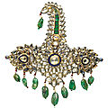 A jewelled and enamelled <b>sarpech</b>, India, 19th century with later elements