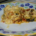 <b>CRUMBLE</b> COURGETTES TOMATES