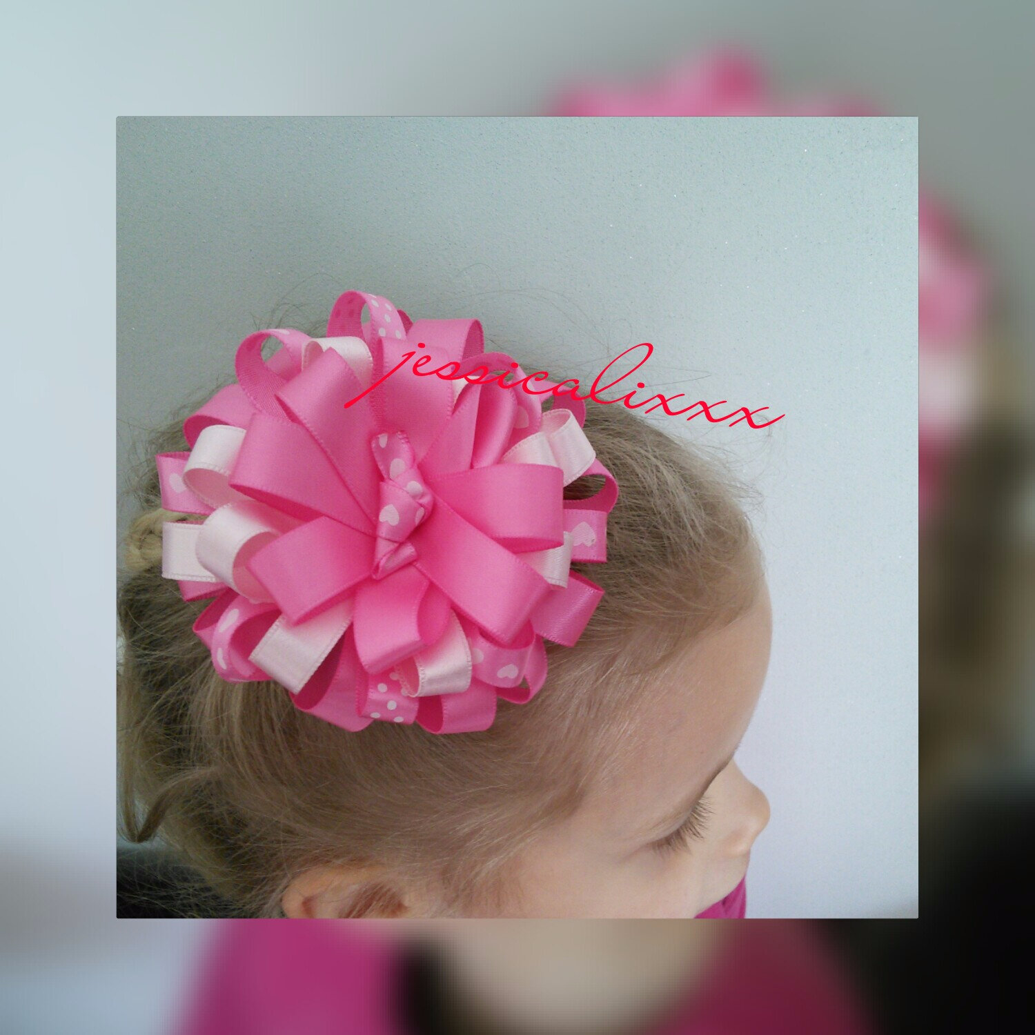 Pince Frou-frou rose girly !