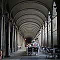 Barcelone, place Reial, les arcades (Espagne)