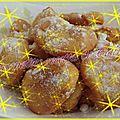 Beignets aux raisins et à la cannelle