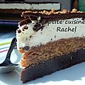 Entremet chocolat / spéculoos / vanille