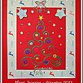 Décembre : carte de voeux reçues