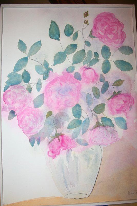 aquarelle Erica rosesreduit
