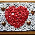 2 Coeur crochet