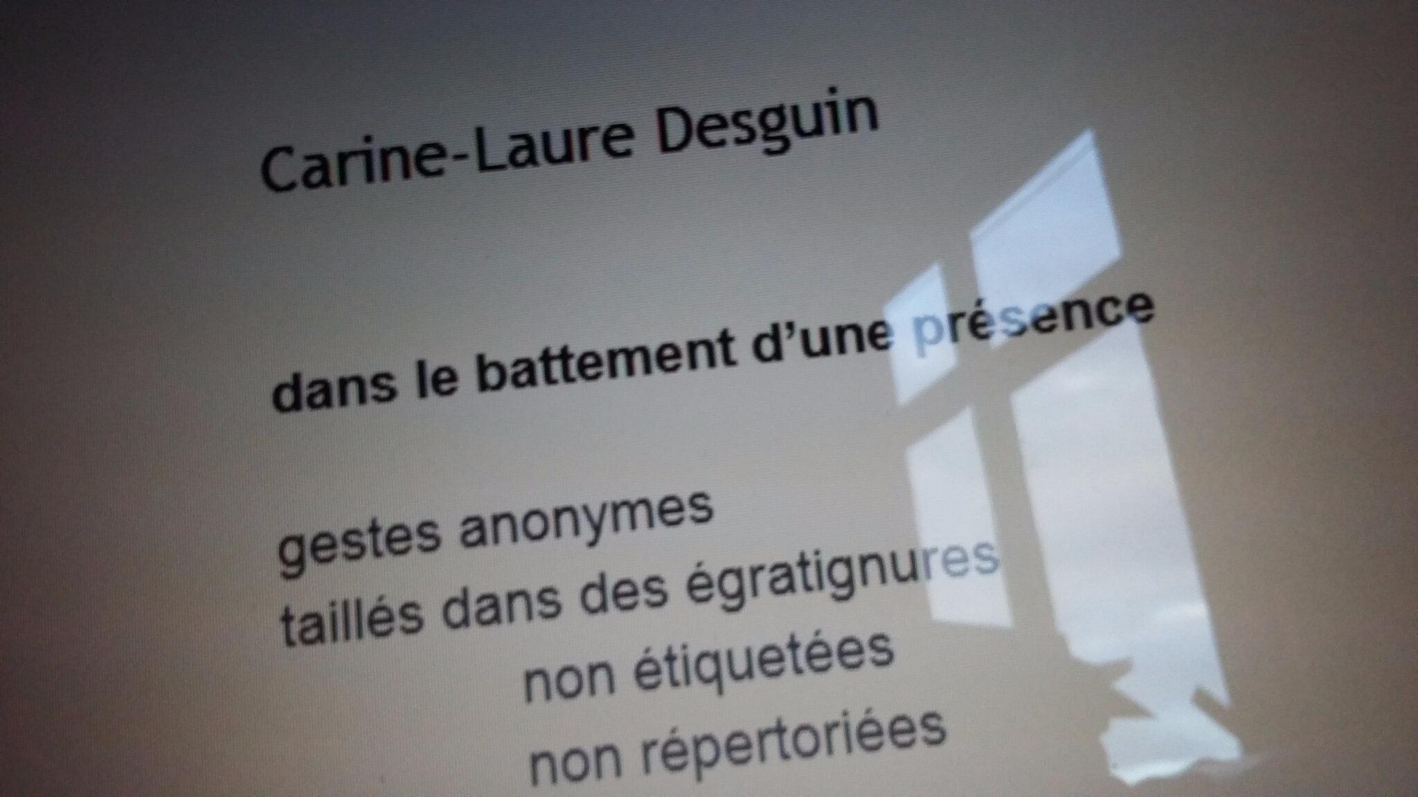 Dans Lichen 18 (sept 2017), un texte de C.-L. Desguin
