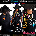 Robe ISAmade <b>Créateur</b> Arty multicolore noire made in France