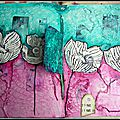 Page art journal fleuri