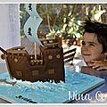 Un gâteau 3D, bateau pirate...