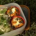 Mini-cakes courgette-tomate à la faisselle de chèvre, sans blé, sans lait de vache