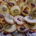 Toasts au fromage et kiwi, fromage harissa avec ou sans olive