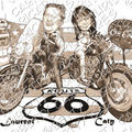 Harley davidson road king - faire-part mariage