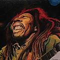 Bob marley, crayons de couleurs