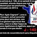 <b>Campagne</b> des <b>municipales</b> à Agde J - 140 ( humour )...