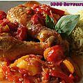 Poulet soleil (de la couleur dans les assiettes!)