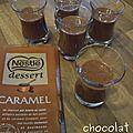 Mousse chocolat caramel