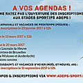 Inscriptions aux stages adeps