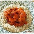 Rougail de crevettes aux coings