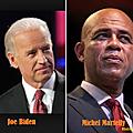 Résumé du coup de téléphone passé par le Vice-président <b>américain</b> au Président haïtien Michel Martelly