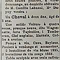 1889 Jeudi 30 Mai: Ventes des héritages de Camille LABASSÉ