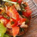 Bruschettas tomates chèvre basilic