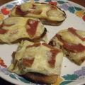 Tartine au jambon de parme et fromage