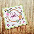 Hello card, un air de Printemps