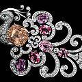 Cartier <b>Bird</b> <b>of</b> <b>Paradise</b> Brooch with 20.22-carat pink sapphire and six padparadscha sapphires