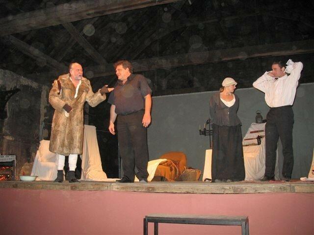 Sur scène à Guerigny avec l'auteur le 22/10/2006