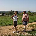 La balade du dimanche à la ferme Mougin de <b>Bavans</b>... le bonheur est dans le pré ... avant d'être dans l'assiette !
