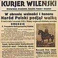Pologne-septembre 1939, coupures de journaux.