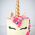 Gâteau <b>Licorne</b>- Unicorn cake