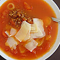 Soupe de tomates à l'epeautre
