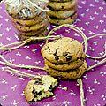 Cookies peanut butter et deux chocolats