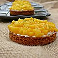 Tartelette mousse vanille et mangue