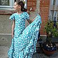 Falda por sévillana flamenca
