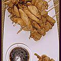 Brochette de poulet au miel et au vinaigre de balsamique