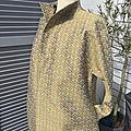 Veste demi-saison, style kimono, modèle unique, jacquard style japonais, taille 36-<b>38</b>