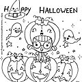 happy halloween coloriage