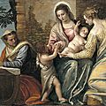 <b>Paolo</b> <b>Veronese</b>, Madonna and Child with St. Elizabeth, the Infant St. John the Baptist, and St. Catherine, 1565-70
