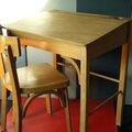Ensemble petit bureau et sa chaise baumann des années 60 !