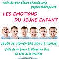 Conférence sur les émotions du jeune enfant