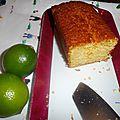 Mon cake au citron vert