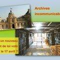 Loi sur la la communication des archives