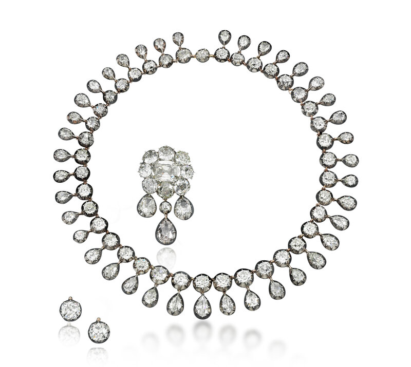 Diamond parure - Royal Jewels from the Bourbon Parma Family - Sotheby's November 2018