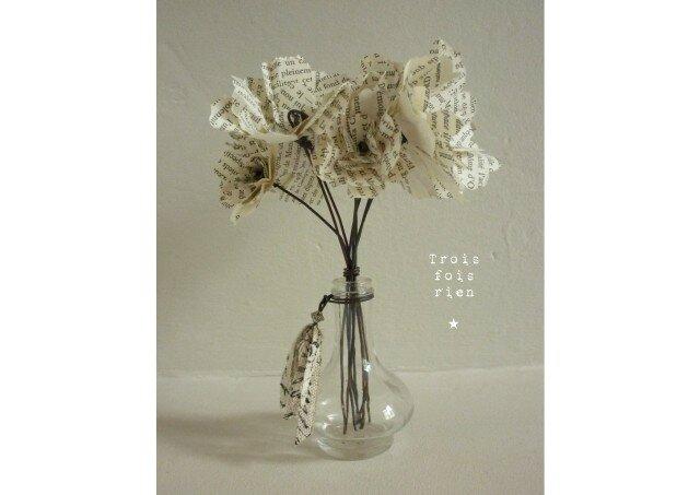 Fiole et fleurs papier N°6 (1)