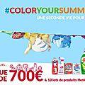 Bon plan: concours color your summer (700€ à gagner)