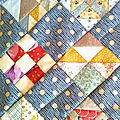 Quirky little quilts (Shoofly <b>sampler</b> le petit frère d'Oregon...)