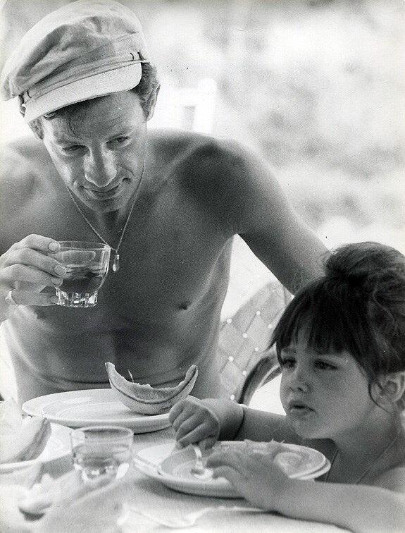 Jean-Paul Belmondo et sa fille Patricia en 1960